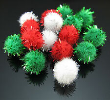 100PCS Pom-Poms Mixed color Velvet Round Christmas Party Outdoor Decoration 9mm