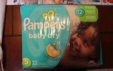 Lot of 88 Diapers - Pampers Baby Dry Size 5 (4 Packs of 22 Diapers Each)