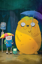 """Adventure Time - With Finn & Jake TV Series Fabric poster 36"""" x 24"""" Decor 17"""