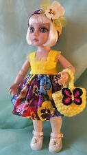 PANSIES purse dress clothes for 10 inch Ann Estelle Patsy 10 inch BJD dolls