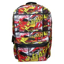 DC Comics The Flash Comic Book Style Laptop Backpack - School Bag Official Red