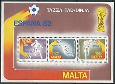 Malta - Fußball WM Spanien Block 7 postfrisch 1982 Mi. 663-665