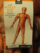 MUSCLE MAN WOMEN HALLOWEEN COSTUME Jump SUIT ~ NEW ~ YOUTH Large