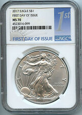 2017 Silver Eagle Dollar NGC MS70 Coin 1st Day Issue Label ASE FDI ON HAND