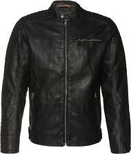 Tom Tailor Denim Herren Leather Bikerjacke in Leder-Optik