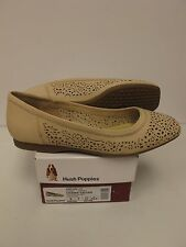 HUSH PUPPIES Womens CHAREE CALLIES Nude Perf Flats US-9M (HW05385-101)