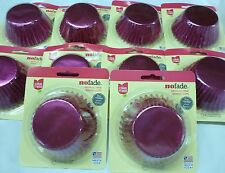 FOIL CUPCAKE BAKING CUPS METALLIC PINK LOT OF 240 MADE IN USA! Standard Size