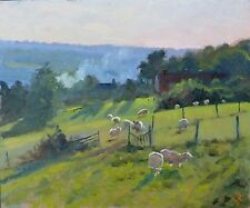 """ORIGINAL MICHAEL RICHARDSON """"West from Maypole Lane"""" Country Life OIL PAINTING"""