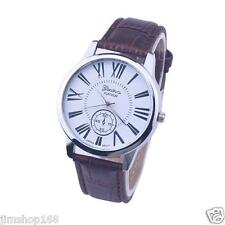 Men's Watch Rome Digital Leather Band Stainless Steel Analog Quartz Wrist Watch