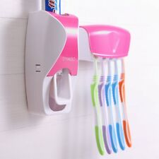 Toothpaste Dispenser Wall Mounted Toothbrush Holder Set