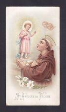 SANT'ANTONIO DI PADOVA 06 saint Antoine de Padoue SANTINO HOLY CARD IMAGE PIEUSE