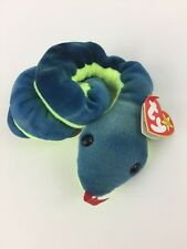 Original Retired Hissy Beanie Baby April 4, 1997 Snake Lover Stuffed Animal Toy