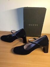 Gucci Black Mary Jane Shoes, Size 38,5 Uk 5, Gorgeous!