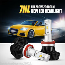2x H11 200W PHILIPS LED Headlight Fog Lamp Kit High Power 4WD Car H8 H9 Lumileds