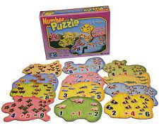 Zahlenpuzzle Rechenpuzzle Lernpuzzle Rechenspiel Lernspiel Rechnen lernen Kinder