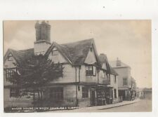 Manor House In Which Charles I Slept Southam Warwickshire Vintage Postcard 288b