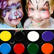 8 Colours Make Up Face Paint Palette Fun Halloween Fancy Painting Kit Set