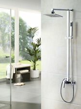 "8"" Shower Faucet Wall Mount Kit Bathroom Tub Mixer Tap Hand Spray 4 Shower time"