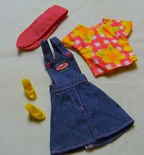 BARBIE JEAN JUMPER FLOWER CHECKED TOP SHOES SCARF