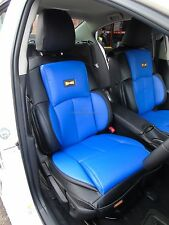 TO FIT A FORD FOCUS CAR, YS02 BLUE / BLACK, RECARO SPORTS, 2 SEAT COVERS