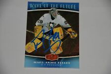 MARC ANDRE FLEURY Penguins Fleer Flair Autographed Signed Hockey Card COA 1