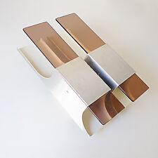 applique design 1970 RAAK vintage métal alu plexiglas fumé années 70's