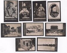 OGDENS GUINEA GOLD PHOTO CARDS CHINESE EMPEROR - PEKING VIEWS ETC CHINA C.1900