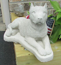 CONCRETE PIT BULL  CROPPED   DOG  STATUE / MEMORIAL