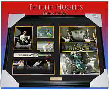 NEW! PHILLIP HUGHES MEMORABILIA SIGNED FRAMED LIMITED EDTN 499