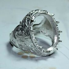 15x19 oval cabuchon ring  setting sterling silver 925 #210