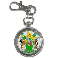 RHODESIA RHODESIAN COAT OF ARMS ROUND KEYCHAIN WATCH **GREAT GIFT IDEA**