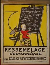 Dessin Gouache FELIX LOCHARD Projet Affiche Cordonnier Chaussures Enfant