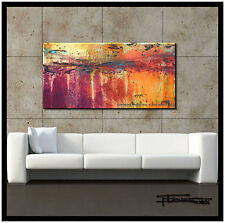 ABSTRACT CANVAS PAINTING MODERN WALL ART  Large, Signed, US    ELOISExxx