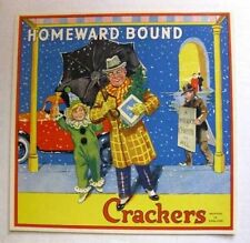 1940s Vintage English Christmas Cracker Label Home Bound Great Christmas Theme