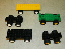 LEGO vehicle bases x5 for car truck lorry wheels base city [ref.2+2+1]