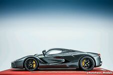 1/18 BBR FERRARI LAFERRARI SILVERSTONE GRAY DELUXE RED LEATHER LIMITED LE 25