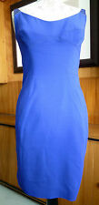 Kaufmanfranco Blue Dress with Leather Shoulder Straps size US6 UK10