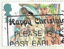 GB Children Nativity Scene Stamp - PM Happy Christmas - see scan