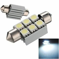 36mm 6 SMD 5050 Pure White Dome Festoon CANBUS OBC Car 6 LED Light Bulb