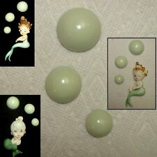Light Green Bubbles for Vintage Mermaids, Fish and Seahorse Wall Plaques