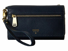 Fossil Preston Multifunction Phone Wallet Midnight Navy Women's purse