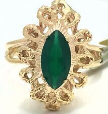 GENUINE 1.27 Carats GREEN ONYX RING 10k GOLD* FREE APPRAISAL * New with Tag *