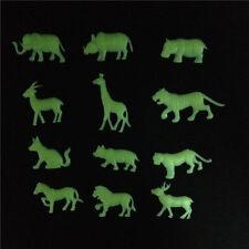 12 Glow In The Dark Safari Animals Jungle For Bedroom Baby Nursery Kids 12 Piece