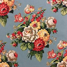 S321 Pottery Barn Peony Floral English Garden Pillow Panel DIY Outdoor Fabric