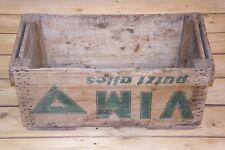 schöne alte Holzkiste - Kiste Holz Reklame - Waschmittel VIM