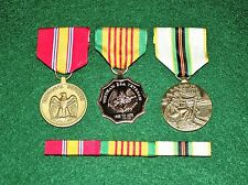3 Medal Set w/ribbons NDSM Vietnam Era and Cold War Service Medals
