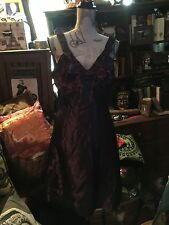 JIM HJELM Regal Purple Taffeta Cocktail Dress Size 4
