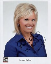 GRETCHEN CARLSON HAND SIGNED 8x10 COLOR PHOTO+COA    GORGEOUS POSE     FOX NEWS