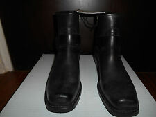 Frye Boots 76247 Harness Zip On Boot Black 9 1/2 10 Bootie Motorcycle Leather