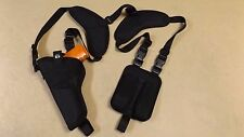 RIGHT Hand Vertical Shoulder Holster w/ mag pouch GLOCK 40 MOS w/ mini Red Dot